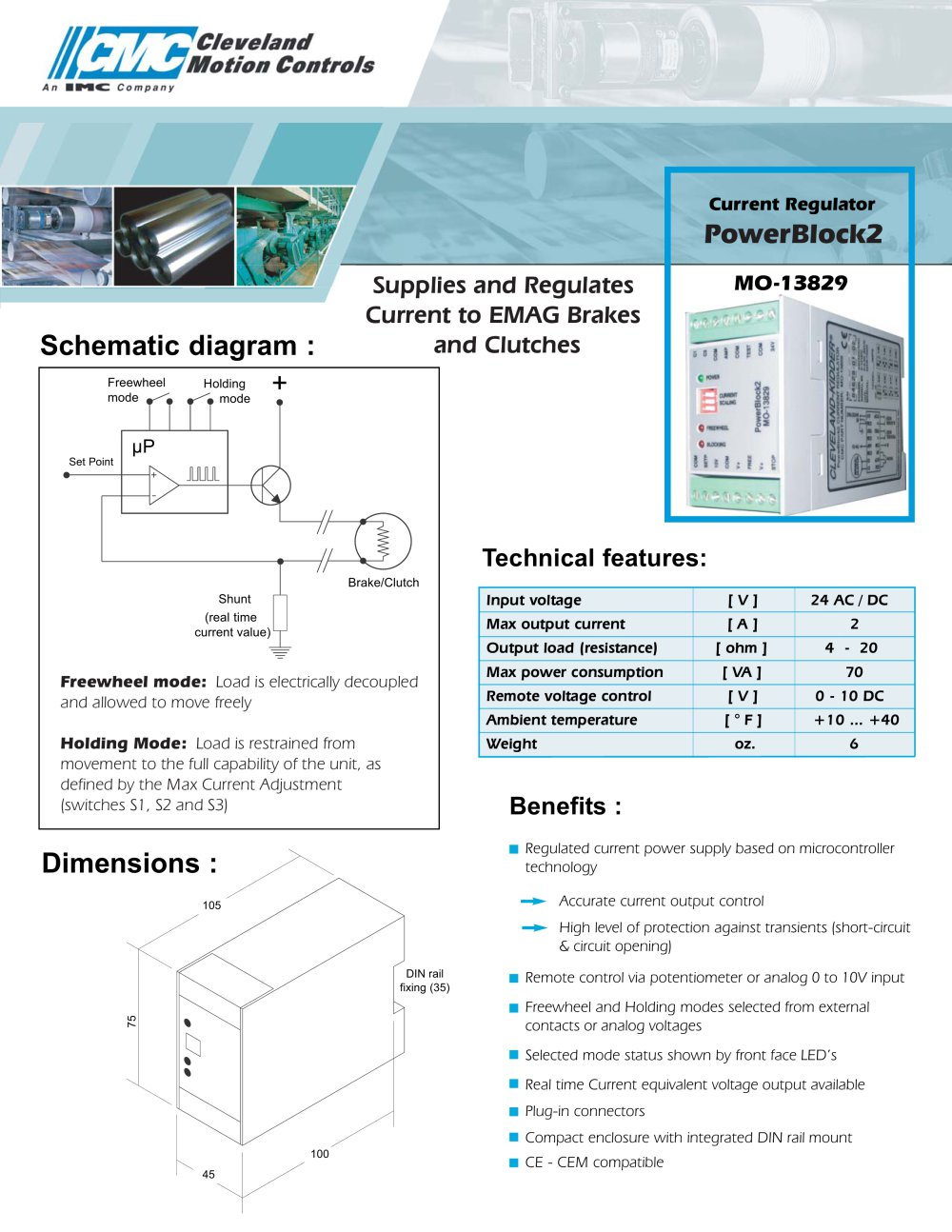 Emag Power Block Pb2 Cleveland Motion Controls Pdf Catalogue. Emag Power Block Pb2 1 2 Pages. Wiring. Pacemaster Dc Drive Wiring Diagram At Scoala.co