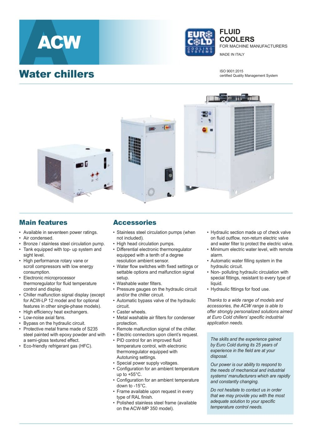 Water Chillers Euro Cold Pdf Catalogs Technical Documentation Alarm Circuit 1 4 Pages