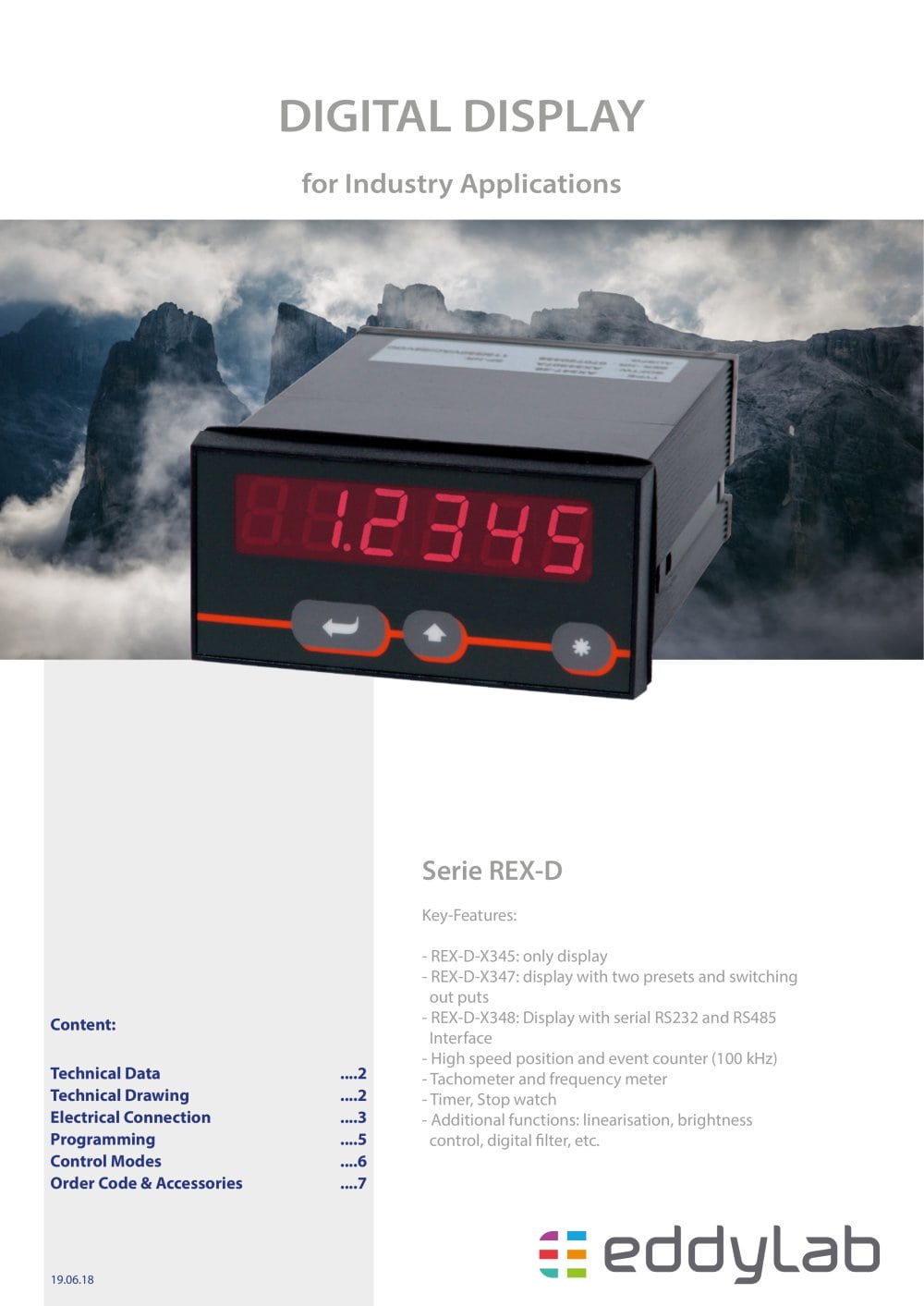Rex Series Eddylab Gmbh Pdf Catalogue Technical Documentation Frequency Counter And Timer 1 8 Pages