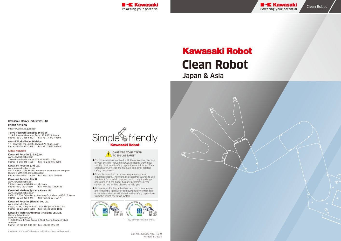 Kawasaki Clean Robots Kawasaki Robotics Gmbh Pdf Catalogue