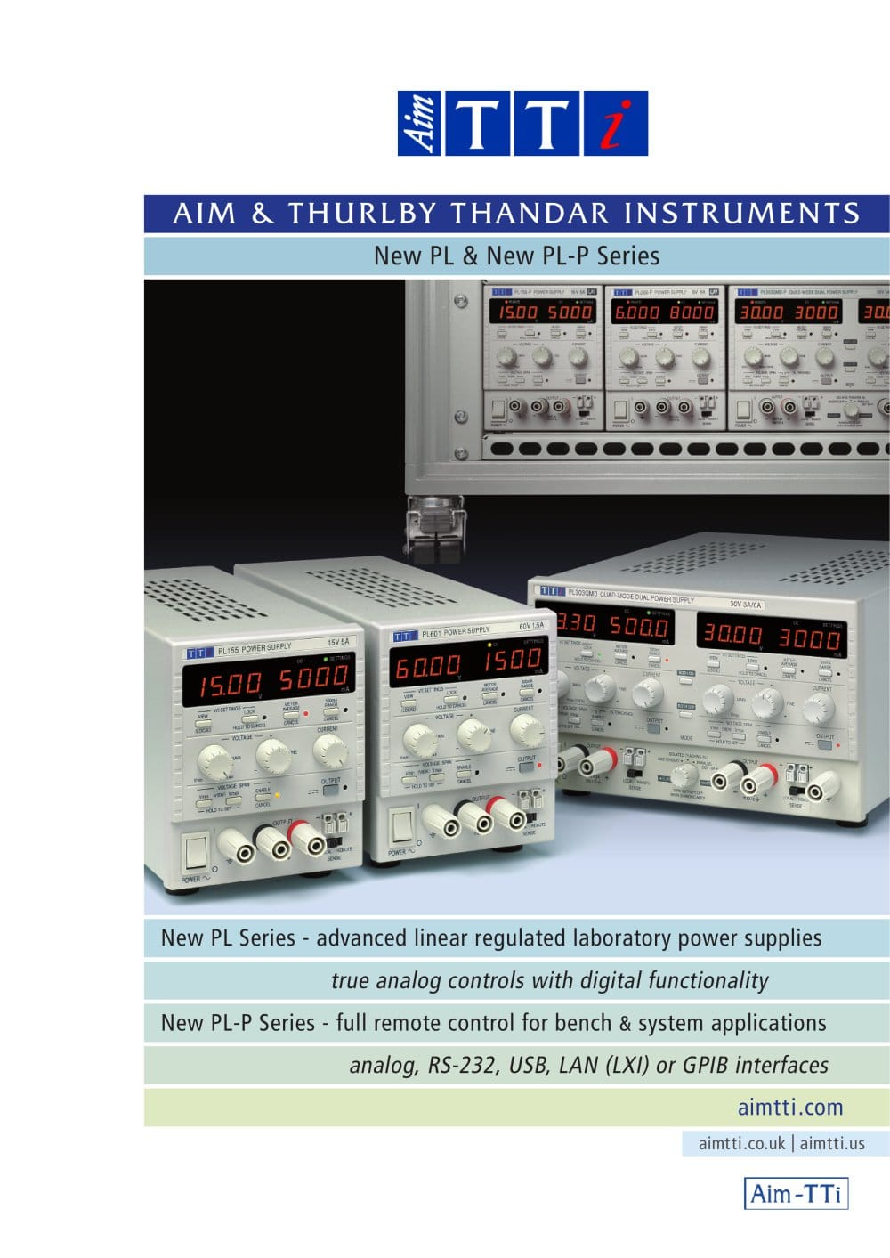 Pl And P Series Dc Power Supplies Tti Pdf Catalogs Regulated Linear Supply 1 9 Pages