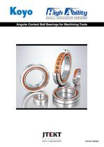 Angular Contact Ball Bearings for Machining Tools
