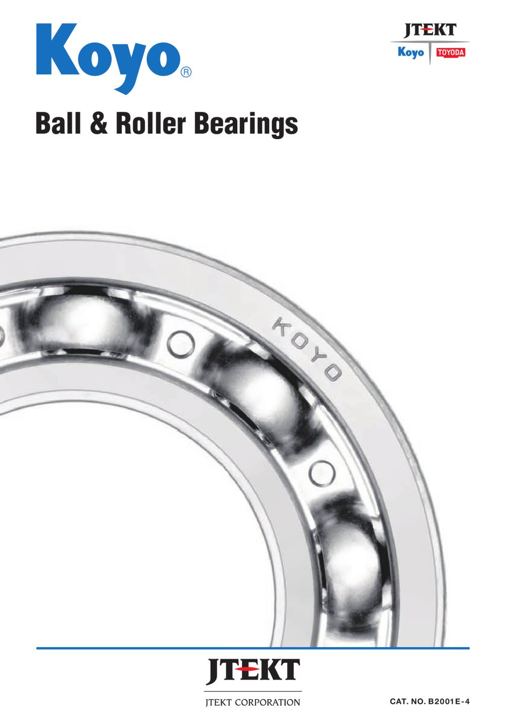 Ball Roller Bearings Jtekt Koyo Pdf Catalogs Technical