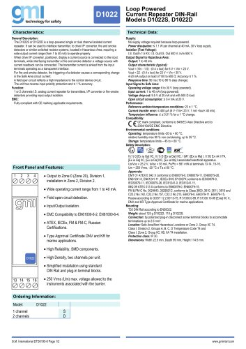 Models D1022S, D1022D