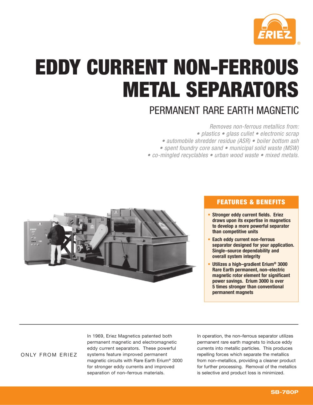 Eddy Current Non Ferrous Metal Separators Eriez Pdf Catalogs Typical Mill Separator Circuit 1 12 Pages