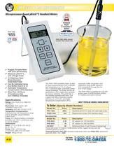 Microprocessor-based pH/mV/C Handheld Meters