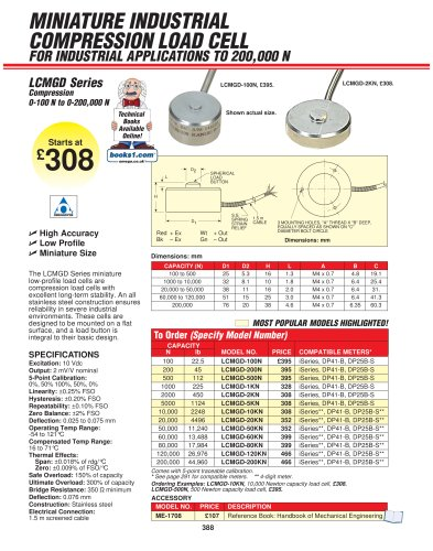 miniature button style compression load cell omega pdf catalogue rh pdf directindustry com