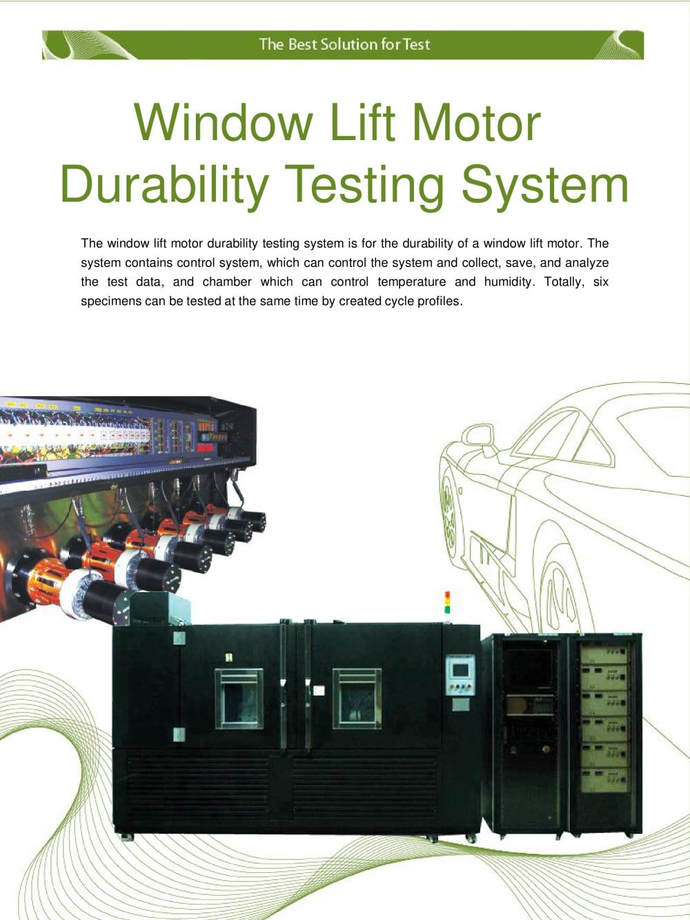 Motor Environment Durability Testing System Knr Pdf Electronic Circuit 1 4 Pages