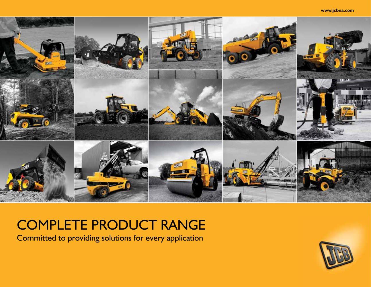 complete product range jcb pdf catalogue technical