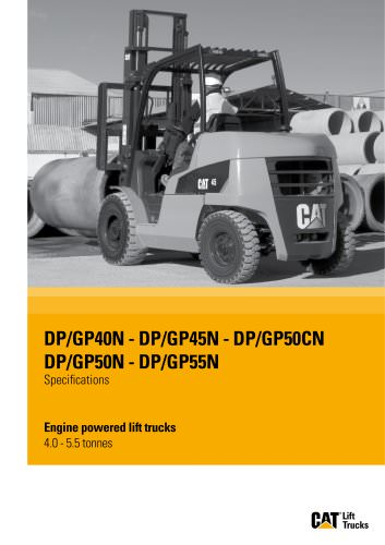 Engine powered lift trucks DP/GP40-55N