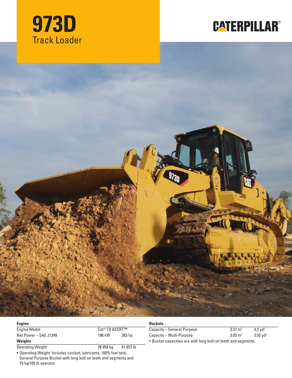 973d track loader caterpillar equipment pdf catalogue 973d track loader 1 20 pages publicscrutiny Choice Image