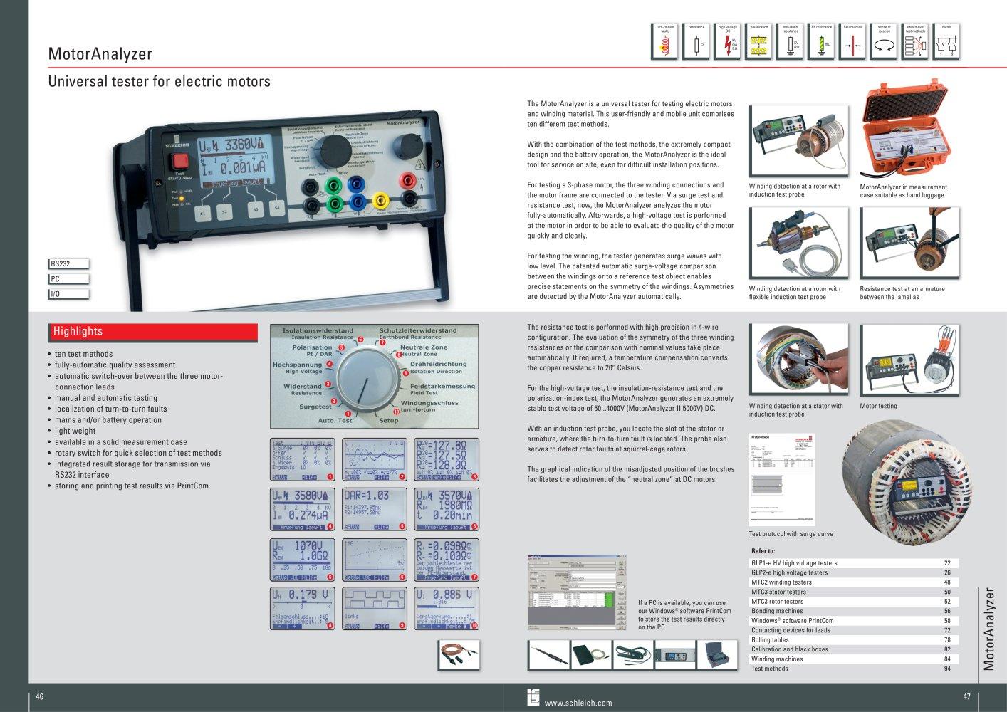 MotorAnalyzer | Universal motor analyzer [R + HV + Iso + Surge +++ ...