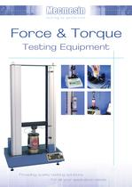 Force and Torque Testing Equipment Catalogue