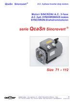 A.C. 3-ph. SYNCHRONOUS motors QcaSn