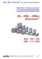 A.C. 3-phase Inverter duty motors QL-HQL-HQLa