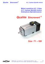 A.C. 3-phase Spindle motors QcaVm