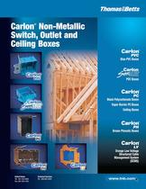 Carlon® Non-Metallic Switch, Outlet and Ceiling Boxes