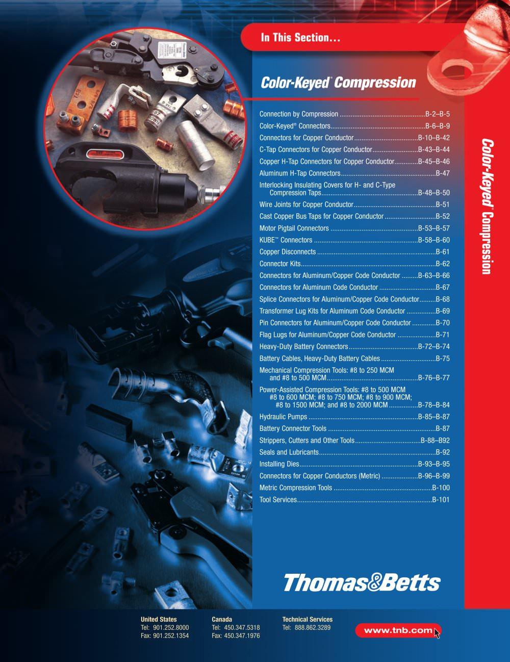 Color-Keyed® Compression Connectors - Thomas & Betts - PDF Catalogue ...