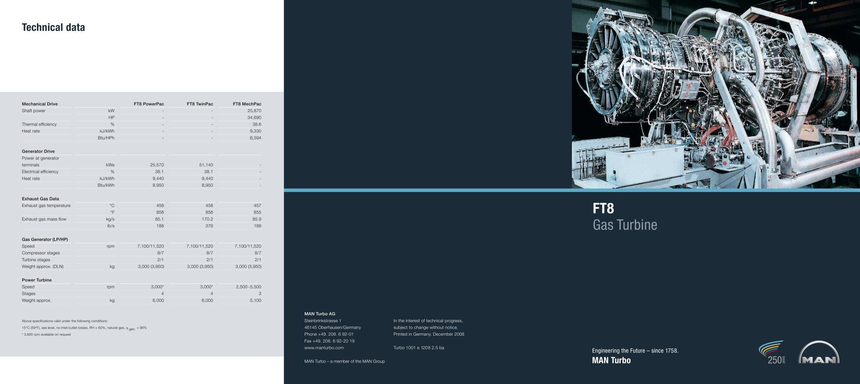 FT8 Gas Turbine MAN Diesel & Turbo PDF Catalogue