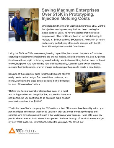Saving Magnum Enterprises Over $15K in Prototyping, Injection Molding Costs