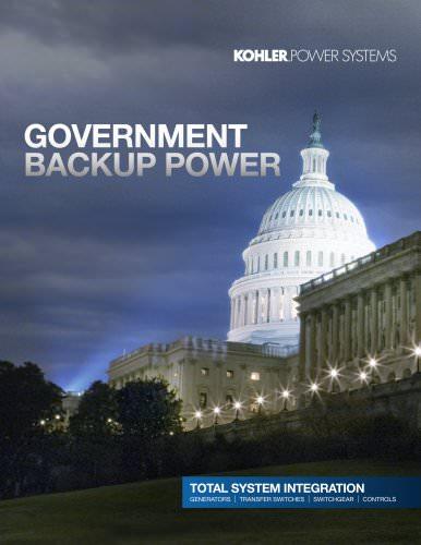 Government Backup Power Brochure - KOHLER POWER SYSTEMS