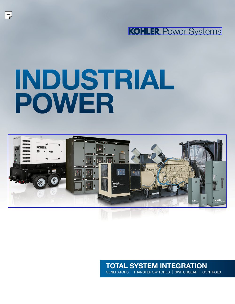 Industrial Power - KOHLER POWER SYSTEMS - PDF Catalogue | Technical ...