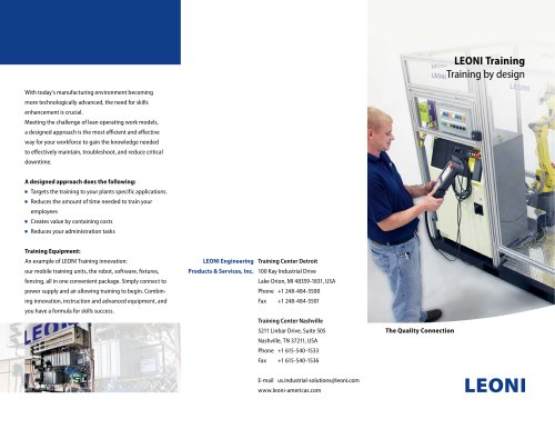 LEONI Training - LEONI Protec Cable Systems - PDF Catalogs