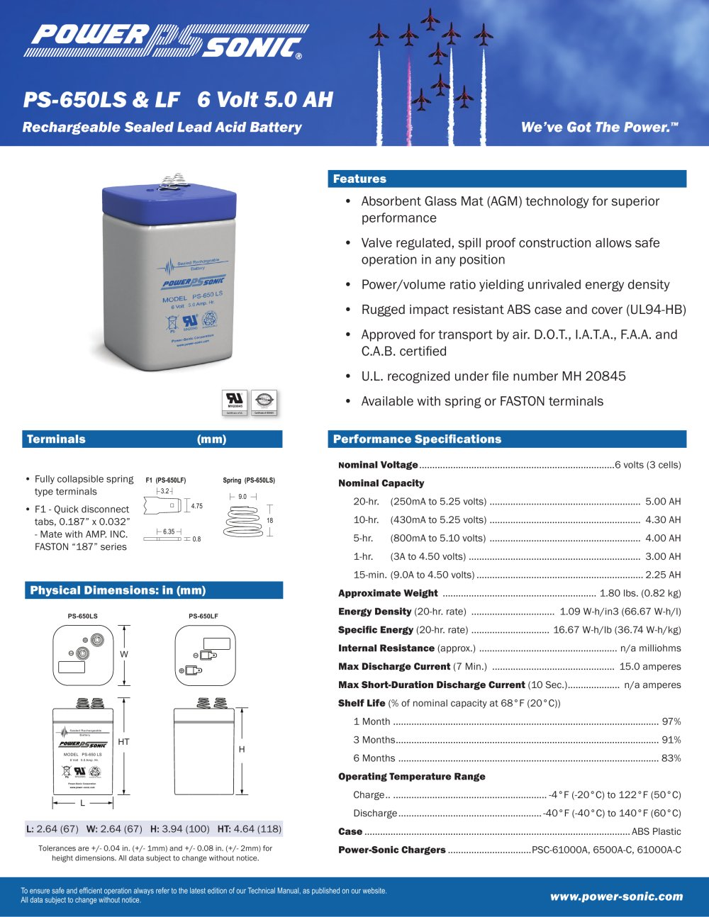 Ps 650ls Lf Power Sonic Pdf Catalogue Technical Charger Desktop 1 2 Pages