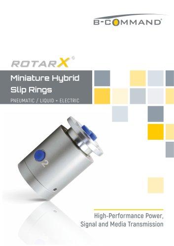 Miniature Hybrid Slip Rings rotarX by B-COMMAND