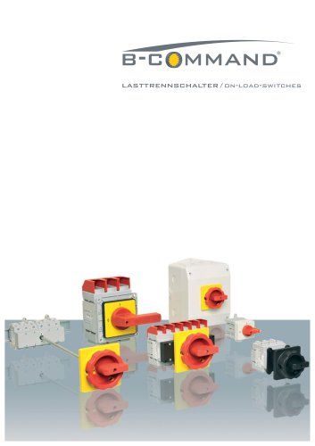 On-Load-Switches / Main Switches Premium-Line B-COMMAND