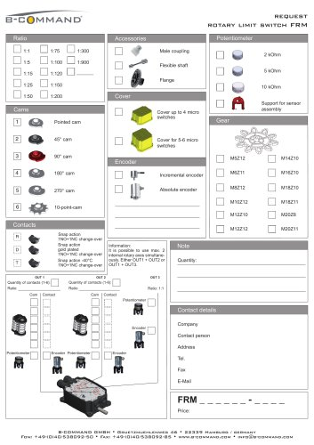 Rotary Limit Switch FRM Request Form B-COMMAND