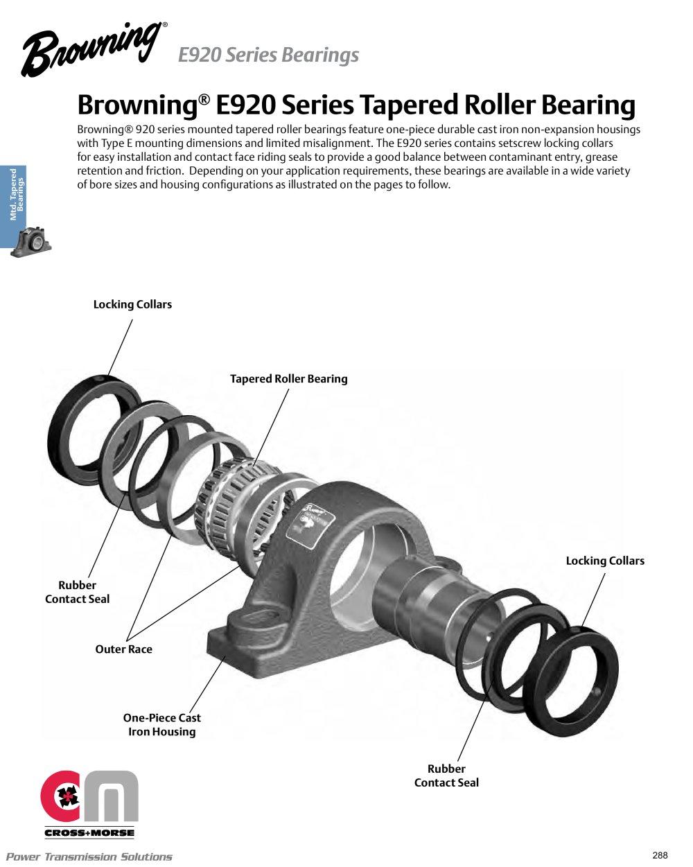 Browning® Mounted Ball Bearings - Cross & Morse - PDF Catalogue ...