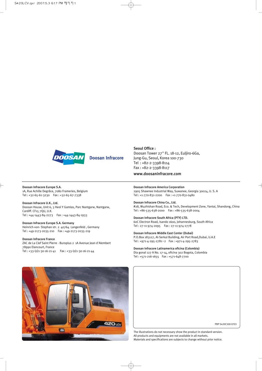 SOLAR420LCV - 1 / 16 Pages