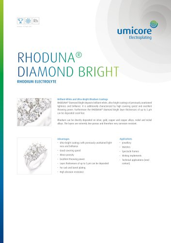 RHODUNA® DIAMOND BRIGHT - Italbras - PDF Catalogs | Technical