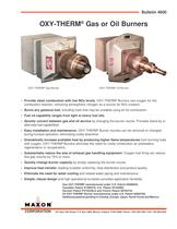 OXY-THERM® Natural Gas Burners
