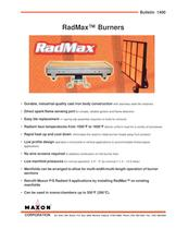 RadMax® Ultra Low NOx Radiant Burners