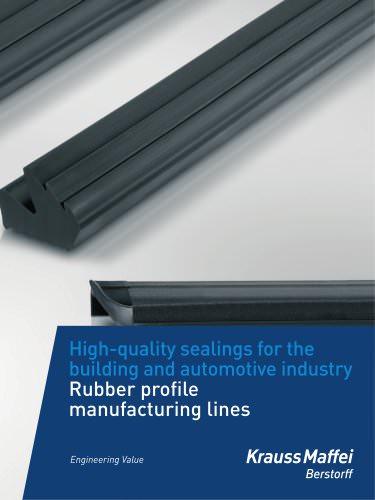 Rubber profile manufacturing lines - Krauss-Maffei Berstorff