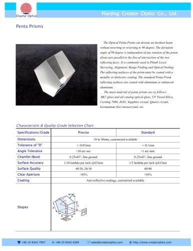 CreatorOptics custom optical prisms / Penta Prisms