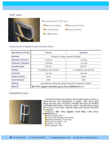 CreatorOptics Cylindrical Lenses and Cut Lenses