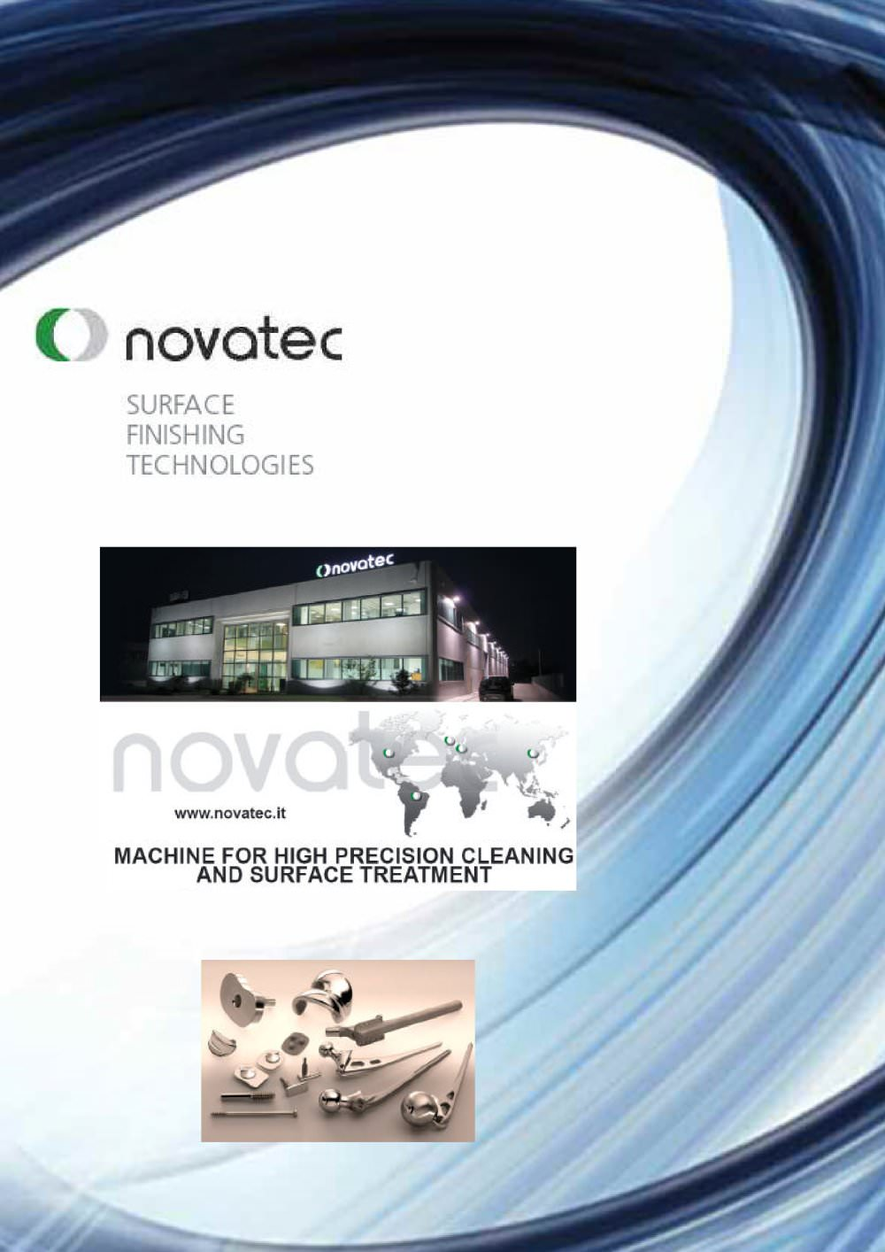 medical cleaning lines brochure novatec srl surface finishing medical cleaning lines brochure 1 9 pages