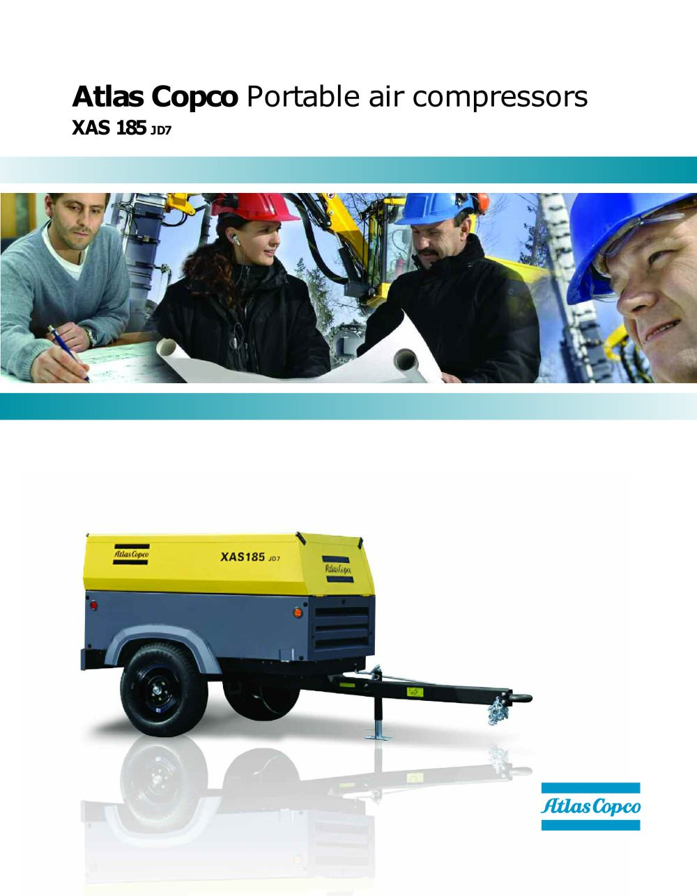 Atlas Copco Portable air compressors XAS 185 JD7 - 1 / 2 Pages