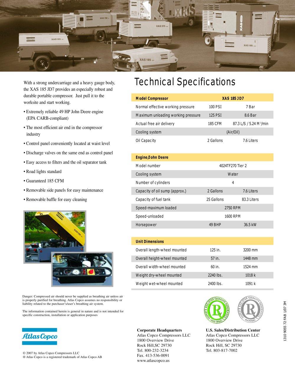 Atlas Copco Compressor Specifications Free Download 1600 Wiring Diagram Automotive News At