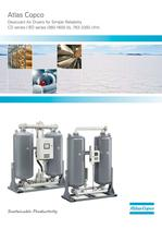 Heatless desiccant air dryers, 360-1600 l/s, 763-3392 cfm.