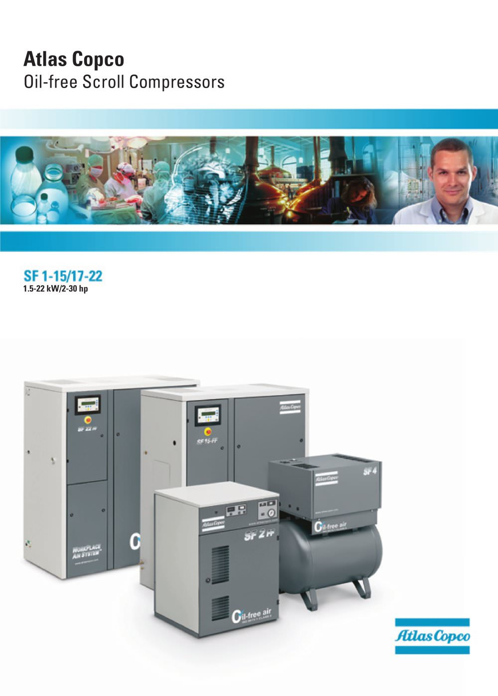 Oil-free Scroll Compressors - 1 / 12 Pages