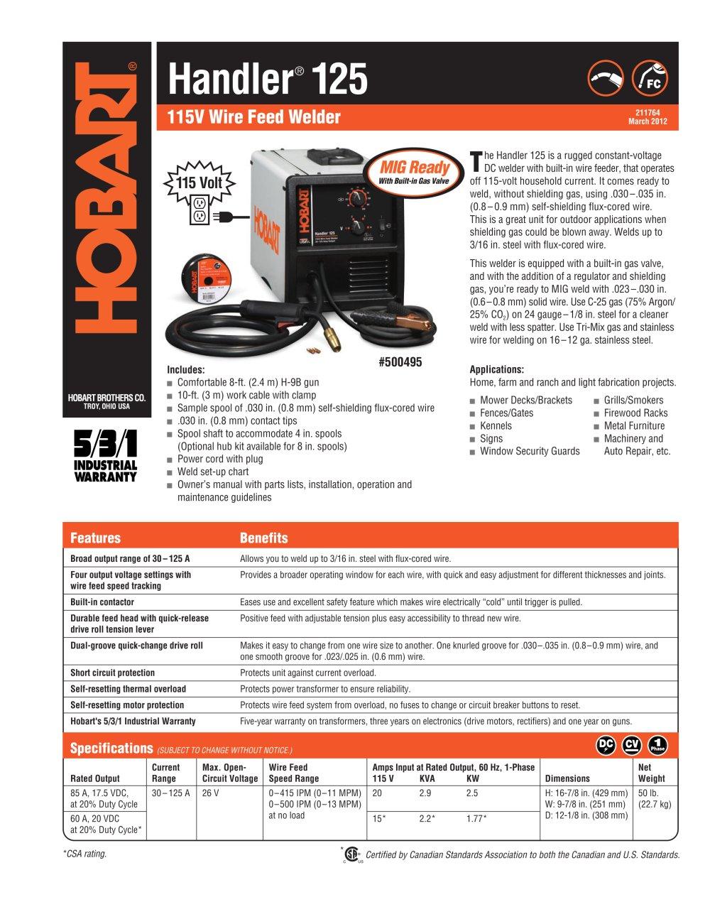 Handler 125 - Hobart - PDF Catalogue | Technical Documentation ...
