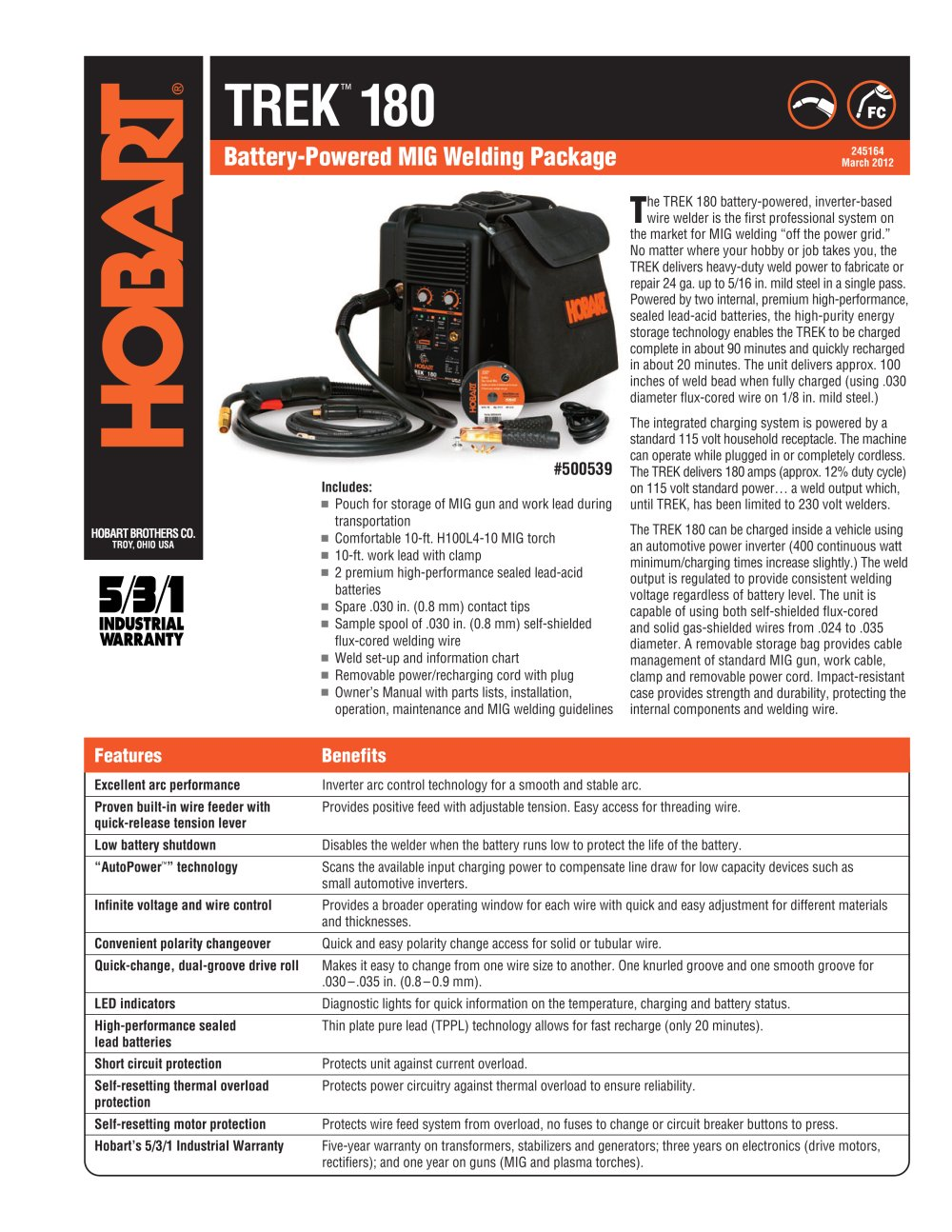 Trek 180 - Hobart - PDF Catalogue | Technical Documentation | Brochure