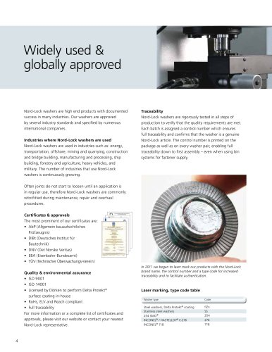 Washers brochure - Product Information (Metric)