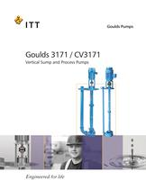 Goulds 3171 / CV3171 Vertical Sump and Process Pumps
