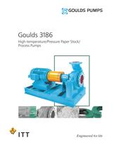 Goulds 3186 High-temperature/Pressure Paper Stock/ Process Pumps