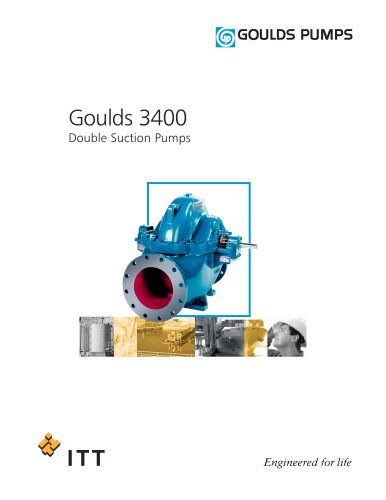 Goulds 3400 Double Suction Pumps - Goulds Pumps - PDF Catalogs